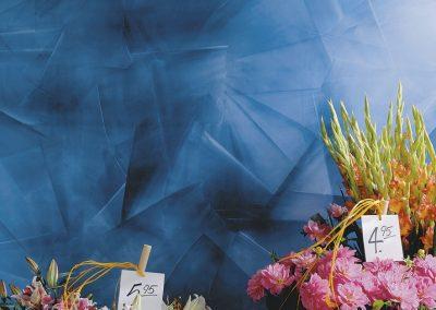 blau, Blumen, Blumenladen, Straeucher, Preisschild